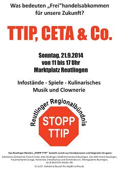 Reutlinger Bündnis zu TTIP